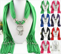 2015 New Arrival Charms Scarf Water Cat Pendant Scarf Jewelry Scarves Necklace Scarf Free Shipping