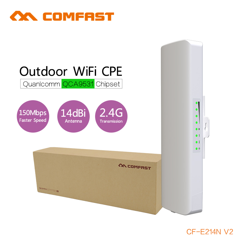 COMFAST 500mW High Power Outdoor Wireless CPE router built-in 14dBi High Gain Antenna Wifi Receiver 2KM 150Mbps wi fi poe bridge kindle paperwhite1 6 high resolution 300ppi displaywith built in light wi fi includes special offers