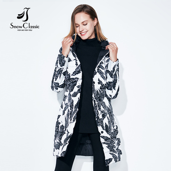 2018 Fashion Spring and Autumn Jacket Womens Printed Widespread Double Long Windbreaker Thin Cotton Pattern Jacket Snow Classic 2