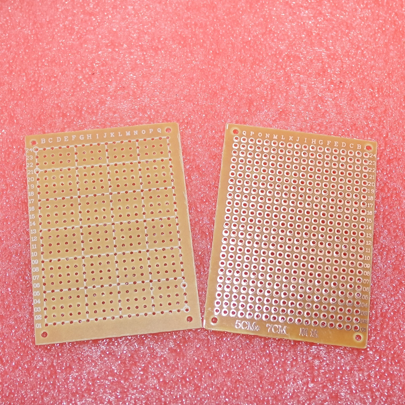 Free shipping 10Pcs new Prototype Paper Copper PCB Universal Experiment Matrix Circuit Board 5x7cm Brand
