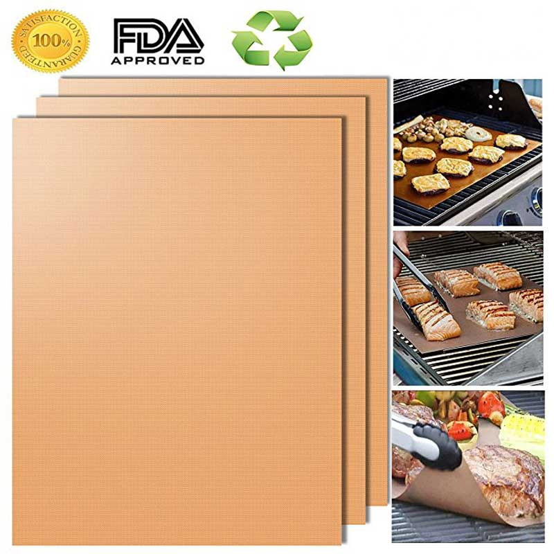 Home & Garden 33cm High Temperature Cooking Tools Non-stick Pad Elegant Shape Good Bbq 1pc Non-stick Grill Pad Barbecue Bake Mat Reusable Teflon Cooking 40