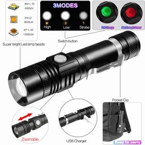 Image 3 - Ultra jasny super jasne led latarka usb linterna latarka led T6/L2/V6 Power porady Zoomable rowerów światła 18650 akumulator