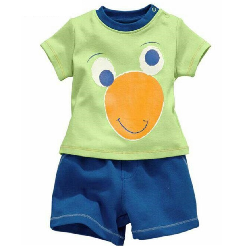 2018 Fashion Boys Pajamas Suit Summer Children Dinosaur Baby Sleepwear Baby Boy's Clothes 100% Cotton Tee shirt Short Pants Soft 6