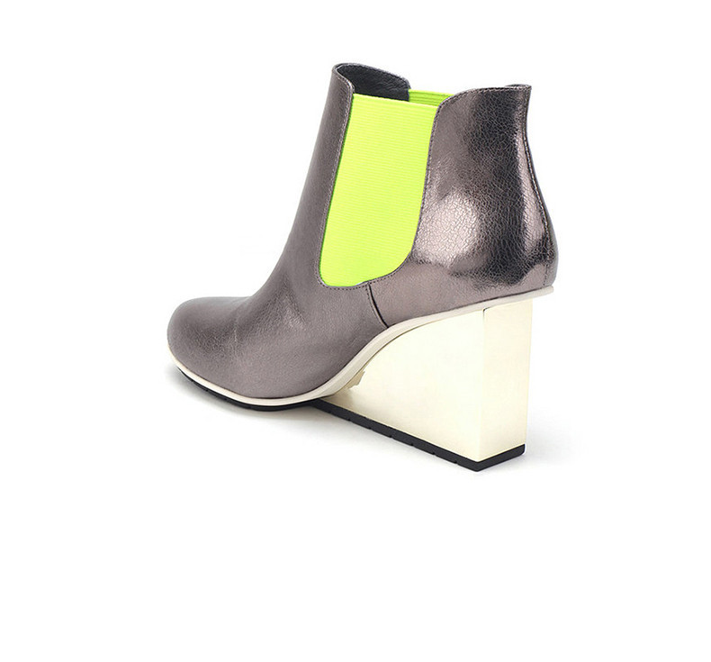 Couleur Bota Chelsea Pointu Noir Pour Bout Bottes argent Coin Cm Feminina Botines 8 Mixte Jadyrose Automne blanc Cheville Zapatos Femmes Mujer w7YY8q