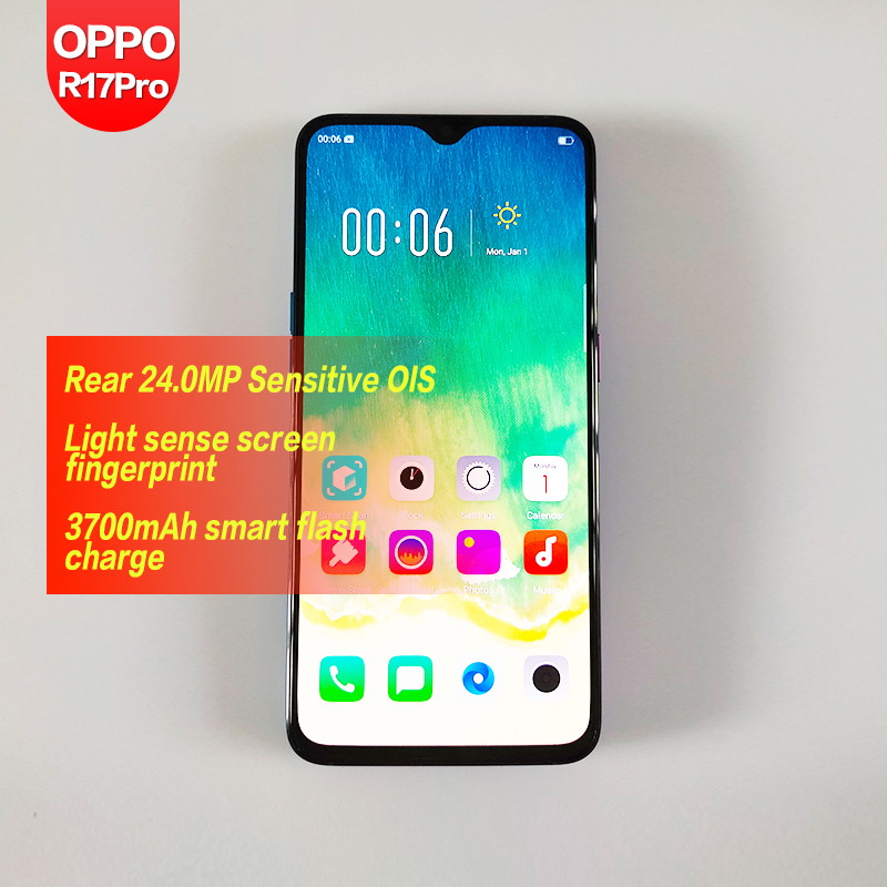 OPPO R17 Pro Global Rom Full Screen Edition Camera Mobile Phone Fingerprint  Intelligent Beauty Student 4G Full Netcom