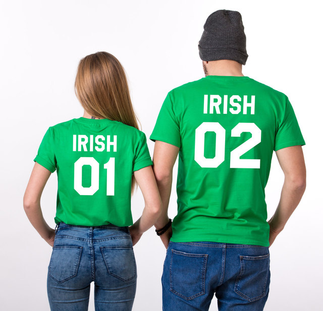 35ac021276cd2 US $8.23 27% OFF|Irish 01 02 St Patrick day T Shirts Couple T Shirts For  Lovers Casual Match Couple Clothes Summer Men Women Valentine's Tops Tee-in  ...