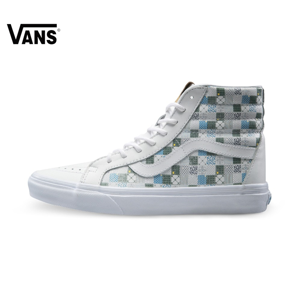 Original Vans New Arrival High-Top Women's Skateboarding Shoes Sport Shoes Canvas Shoes Sneakers free shipping original vans white color women skateboarding shoes sneakers beach shoes canvas shoes free shipping