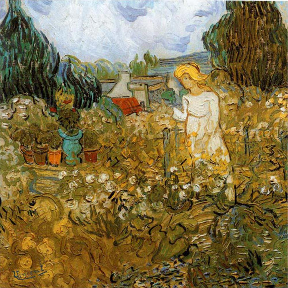 Garden Paintings of Vincent Van Gogh Marguerite Gachet Dans Son Jardin oil art reproductions for sale High quality HandmadeGarden Paintings of Vincent Van Gogh Marguerite Gachet Dans Son Jardin oil art reproductions for sale High quality Handmade
