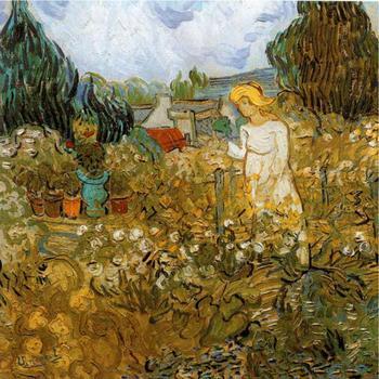 Garden Paintings of Vincent Van Gogh Marguerite Gachet Dans Son Jardin oil art reproductions for sale High quality Handmade