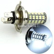 e27 6w 6500k 480 lumen 96 3528 smd led white light bulb ac 220 240v New H4 3528 68-SMD LED 6500K 310 Lumen White Fog Light Bulb Headlight Car DC 12V