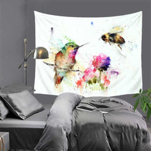 2018 New Nordic ins Fabric Animal Bird Tapestry Living room Paintings Sofa Background Cloth Upholstery LZA18