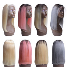 USEXY Short Bob Wig Remy Peruvian 13*4 Lace Front Human Hair Wigs 100% For Black Women Ombre