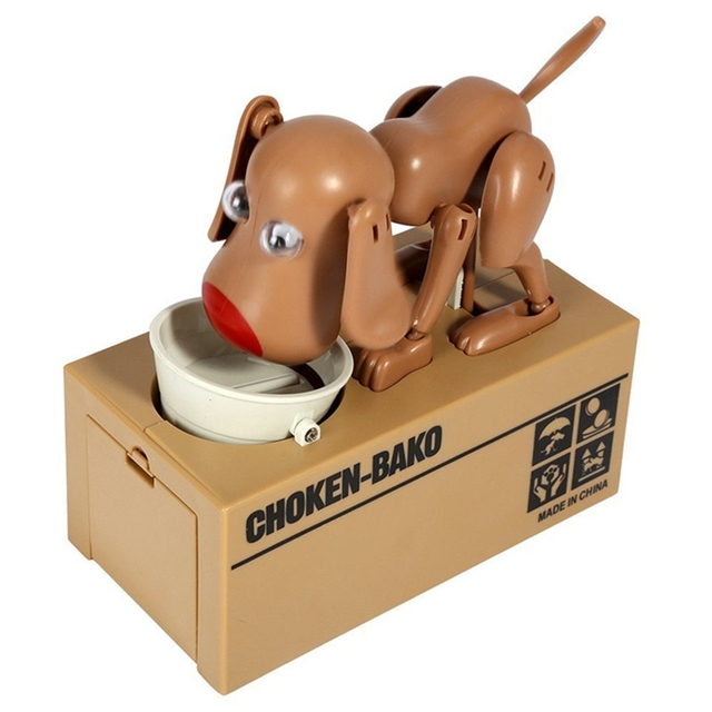Cartoon Robotic Dog Banco Money Box Money Bank Automatic Stole Coin Piggy Bank
