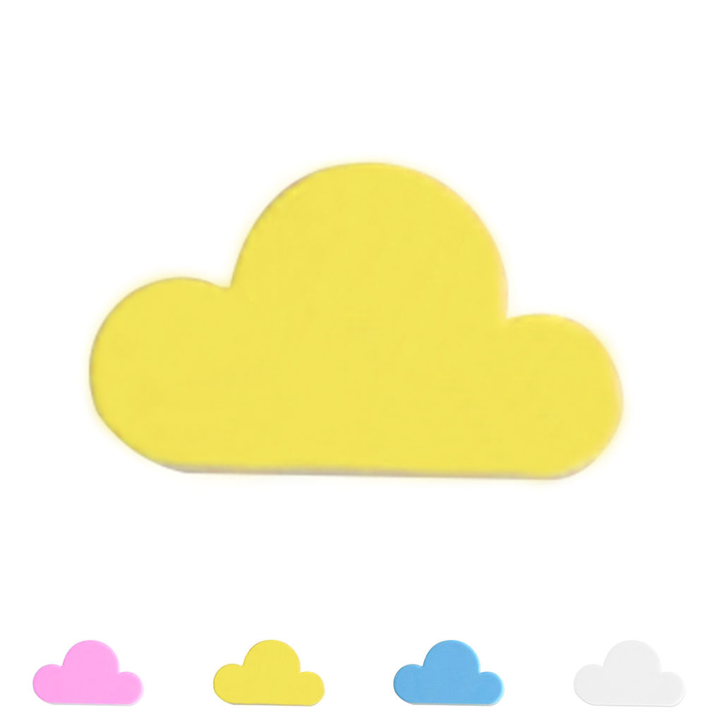 Pink/Yellow Cloud Shape Magnetic Magnets Wall Key Holder Keys ...