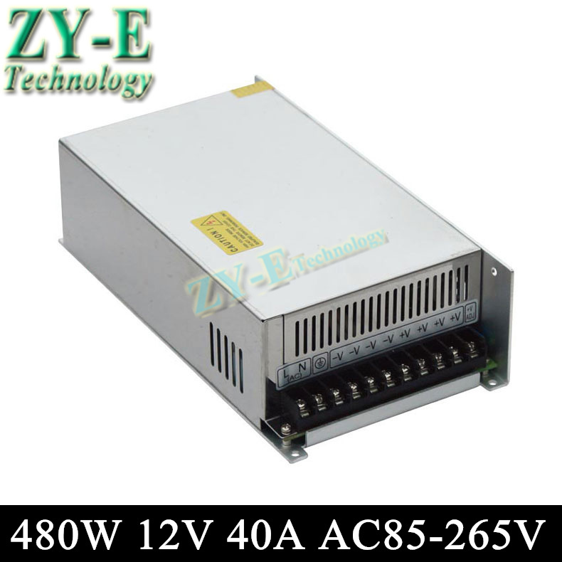 12V 40A 480w Switching led DC Power Supply non-waterproof led driver for LED display screen block power Free shipping 480w 500w led switching power supply 12v 40a power supply 12v output 85 265ac input free shipping