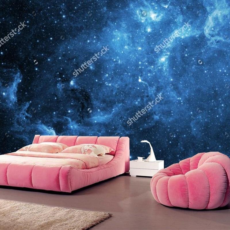Cosmic sky wallpaper galaxy 3D modern mural for the living room bedroom ceiling background wall waterproof