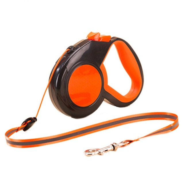 3M/5M/8M Nylon Retractable Dog Leash Reflective Rope for Night Safety Dog Pet Accessories Make Animals More Freedom