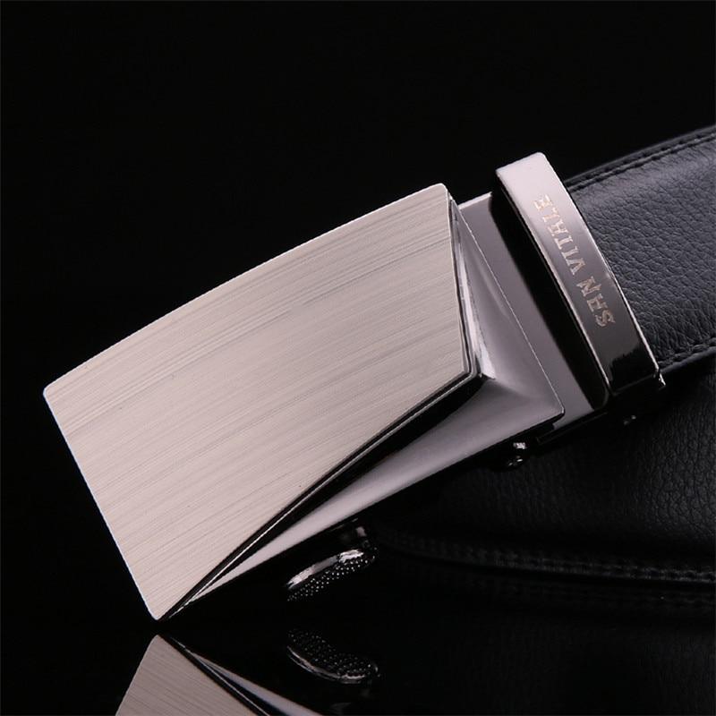 SAN VITALE Good Belts for Men 100 Cow Genuine Leather Mens Belt Male Automatic Alloy Buckle Straps Cinturones Hombre Original in Men 39 s Belts from Apparel Accessories