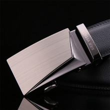 Gentleman's Genuine Leather Automatic Alloy Buckle Belt