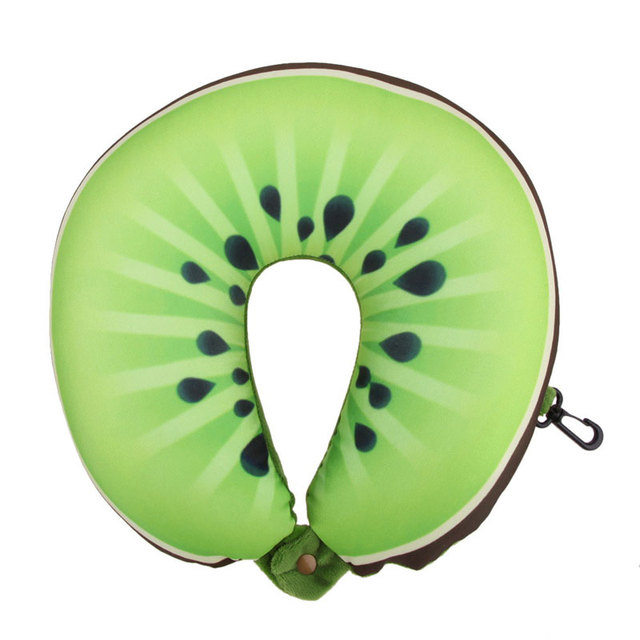 New Fruit U Shaped Car Travel Pillow Cushion Protection Neck Pillow for Travel Nanoparticles Massage Soft 3D Cushion 2