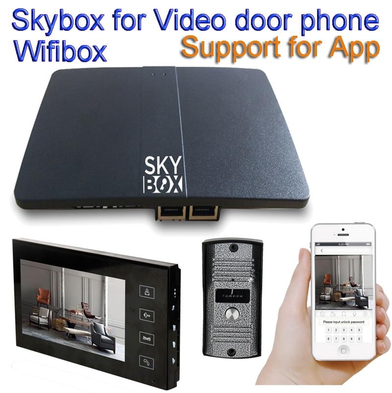 Wireless WiFi IP BOX For Video Doorphone Doorbell Building Intercom System Control 3G 4G Android IPhone Ipad APP On Smart Phone