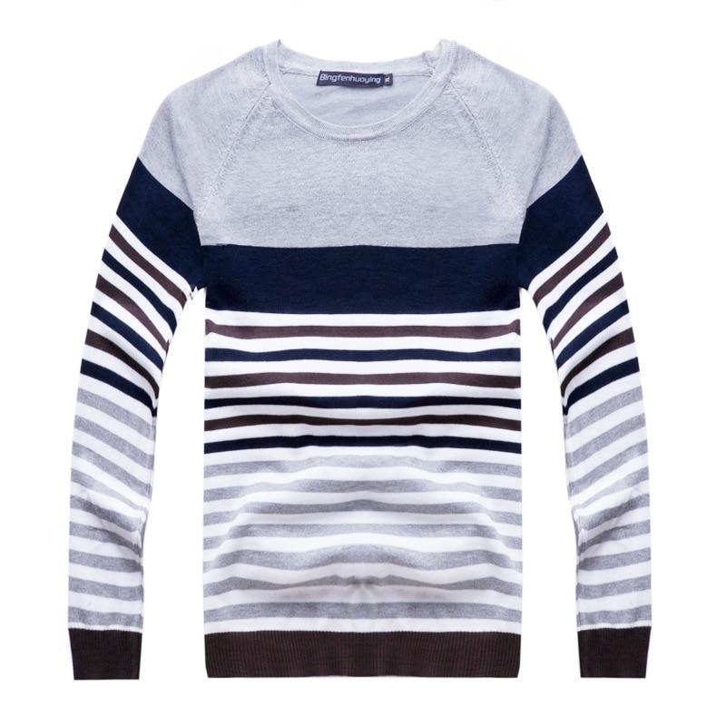 Mens suéter a rayas 2015 nueva moda tejer patrón hombres suéter del ...