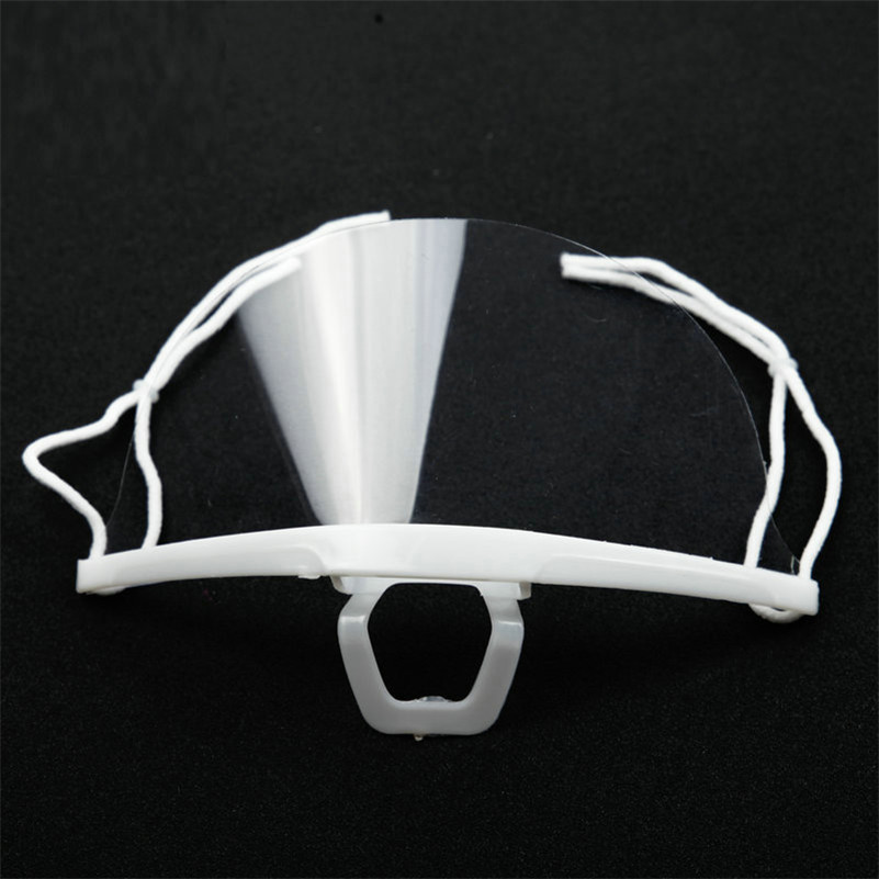 10pcs Transparent Mask Anti Fog health care food beverage service Hotel Plastic Kitchen Restaurant Salon Tattoo Smile Mouth Mask