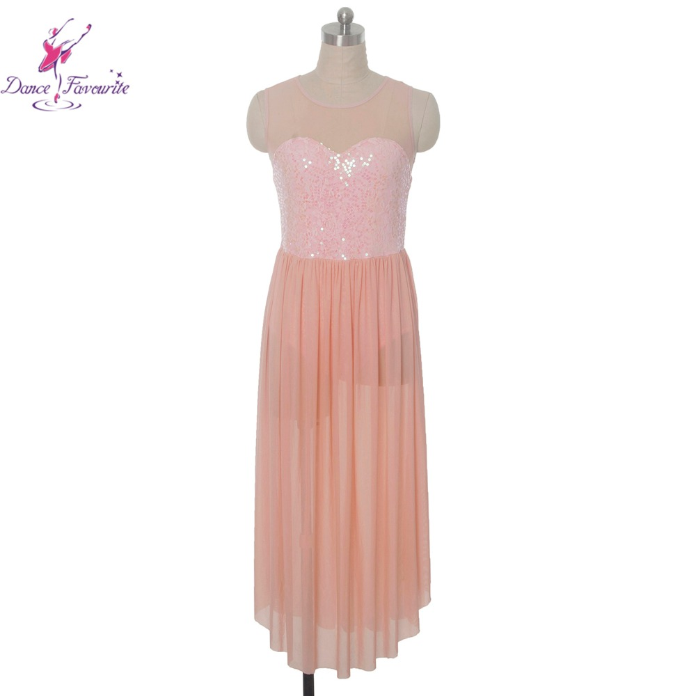 Pink Lyrical dress for stage or performance women Lyrical Ballet dress lady dance costume girl dance costume ballet dress