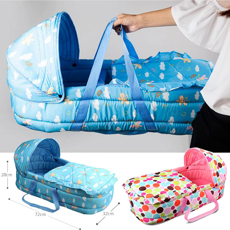 Baby Crib Travel Car Seat Cradle Portable Lightweight Newborn Sleeping Bag Portable Cradle Baby Bassinet Sleeping Basket 0~7M babysing baby car safety seat sleeping basket portable newborn baby carrier basket safety car seat cradle for baby 0 12 m