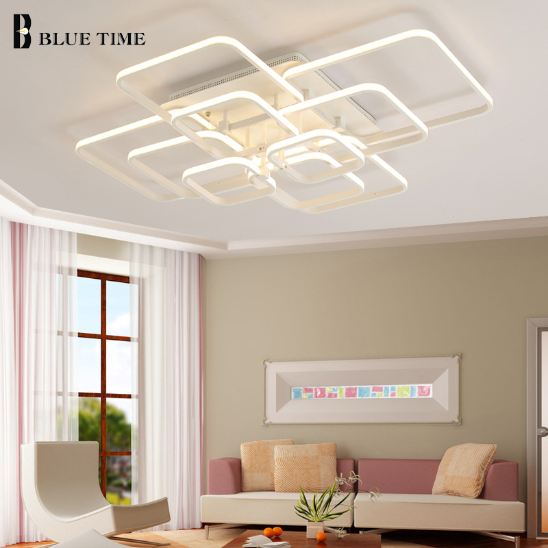 New design Square Modern Led Ceiling Lights ceiling lights for living room bedroom AC 85-265V Square ceiling lamp fixtures цена
