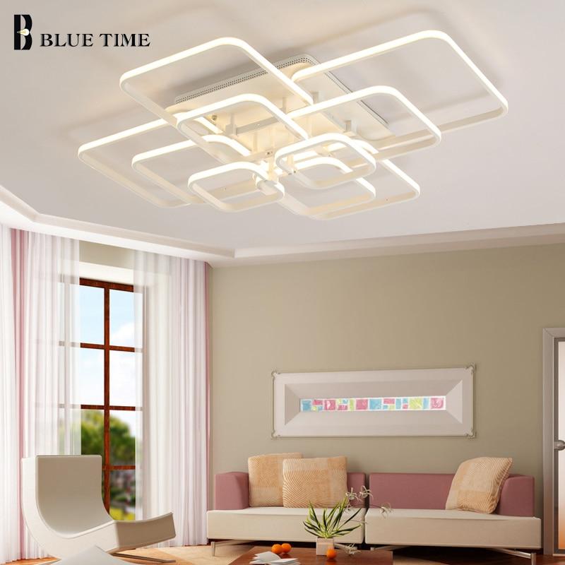 New design Square Modern Led Ceiling Lights ceiling lights for living room bedroom AC 85-265V Square ceiling lamp fixtures