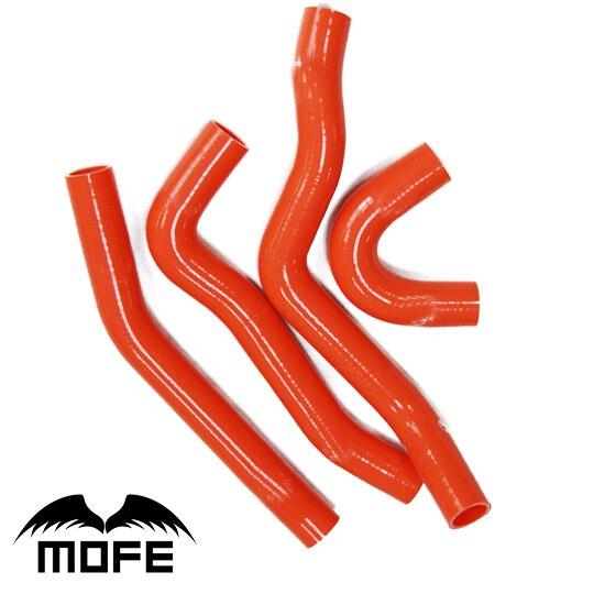 Mofe 4 pz Rosso hige temp Silicone Acqua di Raffreddamento Riscaldatore Tubo Tubo Kit Per Mitsubishi Lancer EVO 10Mofe 4 pz Rosso hige temp Silicone Acqua di Raffreddamento Riscaldatore Tubo Tubo Kit Per Mitsubishi Lancer EVO 10
