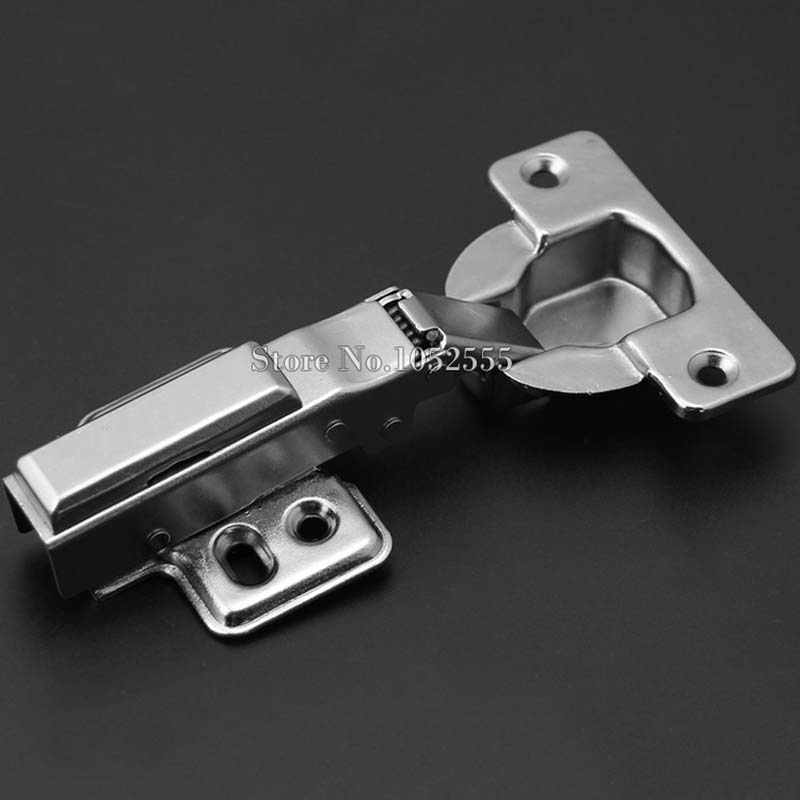 High Quality Stainless Steel Cabinet Hinge Soft Close hydraulic Damping hinge Full Over/Half Cover Cupboard Door Hinges K124 dsha hot 10x soft close kitchen cabinet door hinge hydraulic slow shut clip on plate