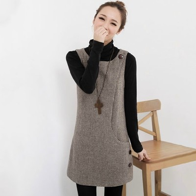 Winter Bottoming Dresses Woolen Dress Sleeveless Thickening Women New Casual Plus Size Las Mdm254 In From S