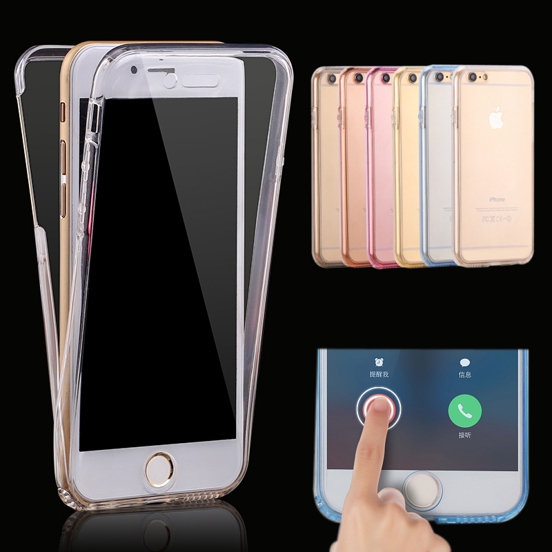 Luxury Soft 360 Degree Front After Full Body Cover TPU Silicone Case for iPhone 8 7 6 6S Plus 5 5S Phone case for Iphone X Cases