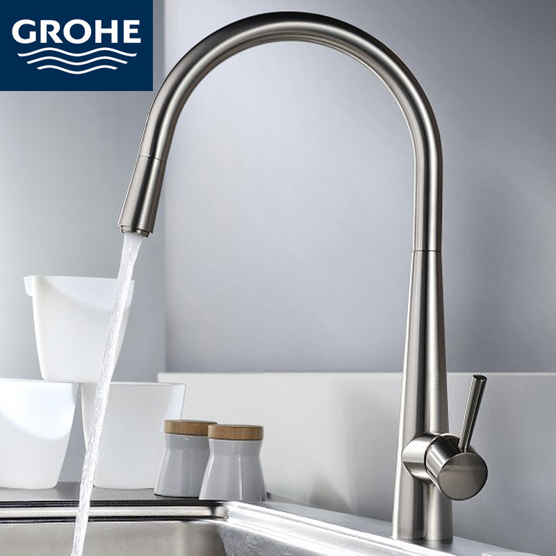 Grohe Brushed Faucets Grifos Para Lavabos Copper Kitchen Sink Tap ...