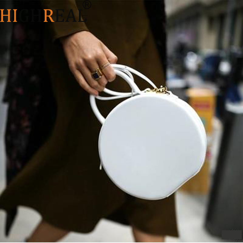 Round Totes Bag Cute Circle Bags Women Girl 2019 Summer New Chic Small Party Crossbody Bag Black Yellow White Red Drop ShippingRound Totes Bag Cute Circle Bags Women Girl 2019 Summer New Chic Small Party Crossbody Bag Black Yellow White Red Drop Shipping