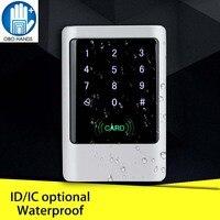 Водонепроницаемая металлическая RFID 125 кГц или 13 56 МГц автономная система контроля доступа цифровая клавиатура с сенсорной панелью + 10 брело...