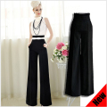 new autumn-summer fashion elegant women high waist loose wide leg bell bottom flare palazzo pants trousers femininos calcas