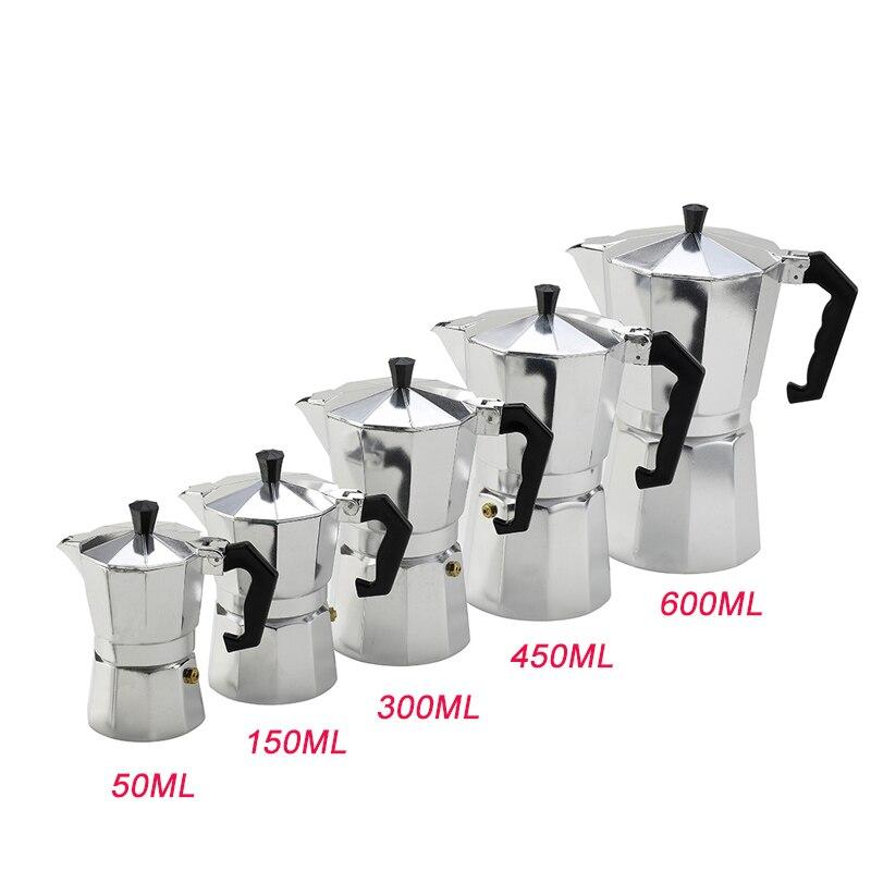 VOCORY Coffee Maker Aluminum Mocha Espresso Percolator Pot Coffee Maker Moka Pot 1cup/3cup/6cup/9cup/12cup Stovetop Coffee Maker 2