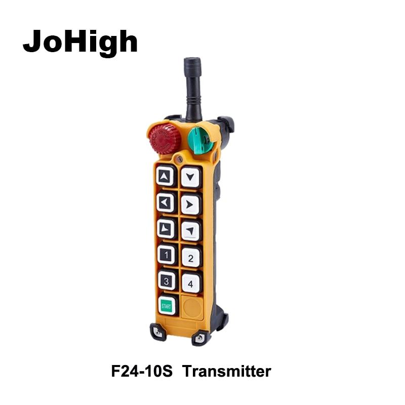 F24-10S Single speed Crane remote controller switch 10 Channels keys  1 transmitterF24-10S Single speed Crane remote controller switch 10 Channels keys  1 transmitter
