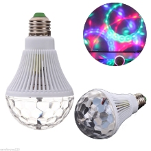 Promotion LED Stage Light E27 3W 85-265v Christmas Colorful Auto Rotating RGB Bulb Party effect Lamp Disco Magic Ball Bulb