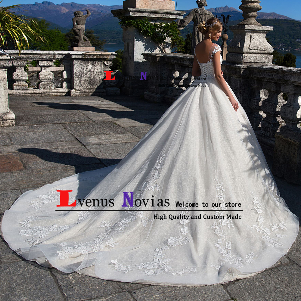 42512aede3 Robe de Mariage Hochzeitskleid Sexy Backless Brdial Dresses Luxury Lace  Ball Gown Wedding Dress 2019 Vestido Novia trouwjurk