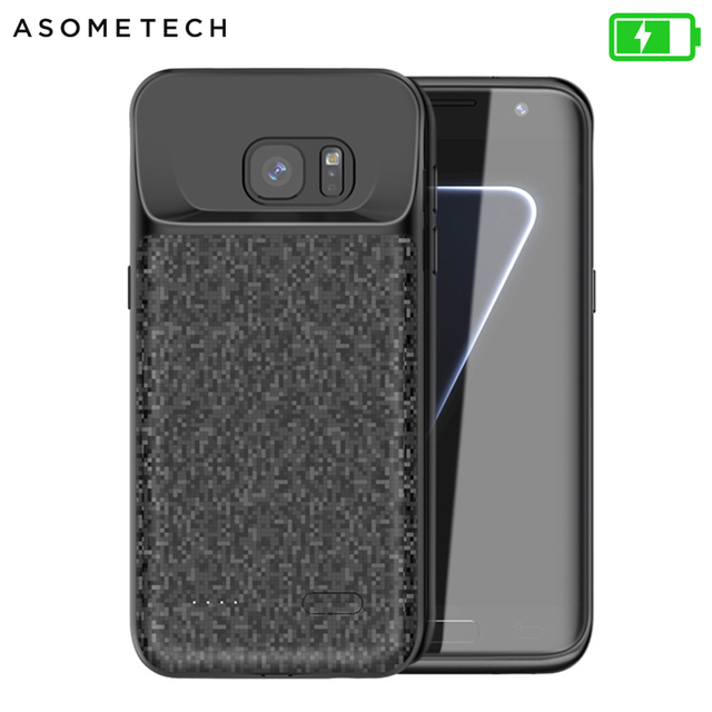 Batterij Case Voor Samsung Galaxy S7 Zachte Dunne Power Bank Oplader Opladen Case Batterie externe Powerbank Case Voor Samsung S7Edge