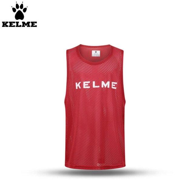 KELME K15Z247 Kids Training Detachments Vest Breathable Quick Dry  Elasticity Soccer Jerseys Basketball Suit Red White d049a2dde