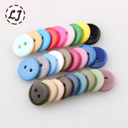 Бесплатная резиновая швейная пуговица 100 шт./лот, Круглый аксессуар с 2 отверстиями диаметром 12,5 мм, Скрапбукинг для детской ткани, маленькая...