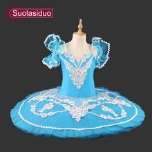 Hot Sale Blue Bird Professional Tutu Nutcracker Ballet Costume Girls Pancake Classical YAGP Competition SD0005