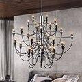 Decoração home moderna 18/30/50 lâmpadas gino sarfatti projetados lustre sala de estar sala de jantar luz free grátis