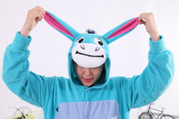 Cute Cartoon Onesie Blue Donkey Onesies Pajamas Unisex Adult Pajamas Cosplay Costume Animal Onesie Sleepwear Jumpsuit