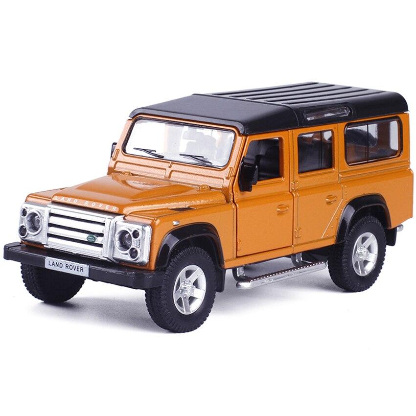 Defender simulación 1:36 vehículos de juguete aleación pull back mini car replica autorizada por la fábrica original modelo Juguetes colección